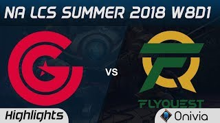 CG vs FLY Highlights NA LCS Summer 2018 W8D1 Clutch Gaming vs Flyquest by Onivia
