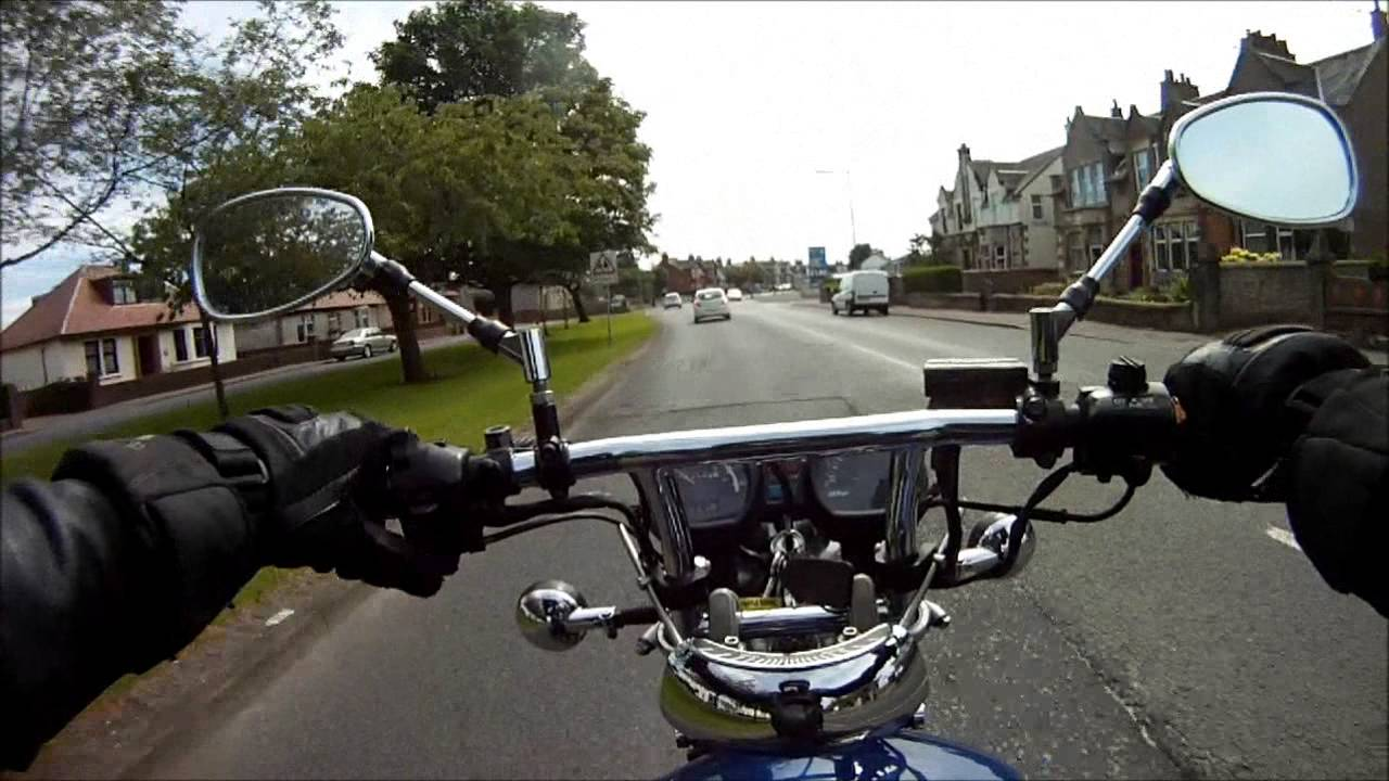 Motorcycle car accident avoidance real life