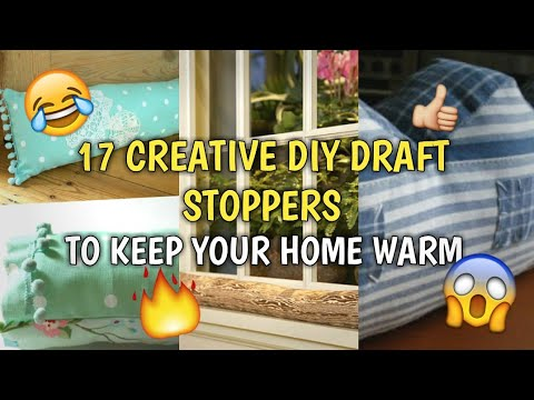 17 CREATIVE DIY DRAFT STOPPERS TO KEEP YOUR HOME WARM THIS WINTER