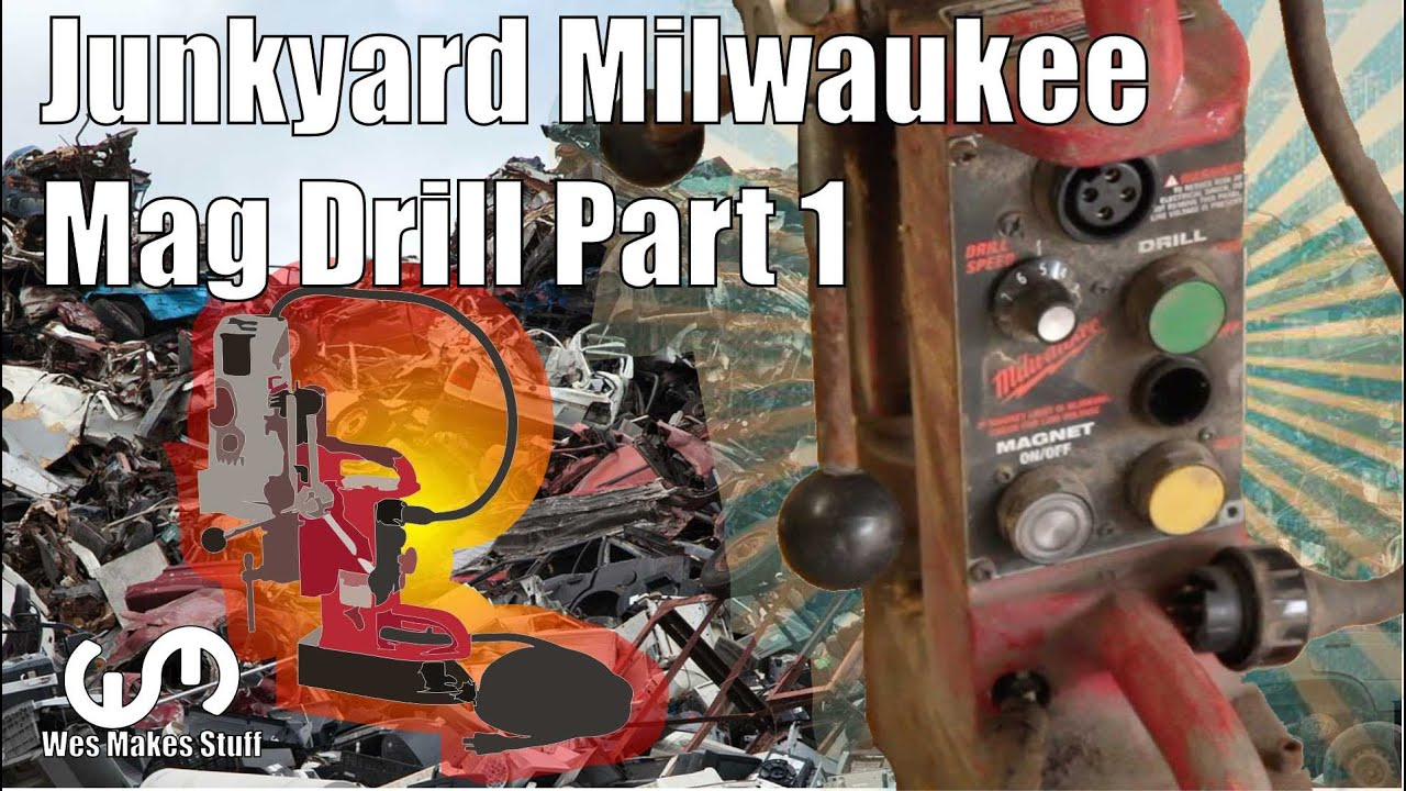 MILWAUKEE TOOLS MAGNETIC DRILL PRESS 4202 REPAIR PART 1 on