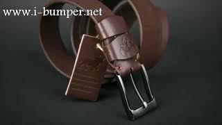 Мужской ремень из толстой Аргентийской кожи буйвола  для джинс. Видео обзор, характеристики