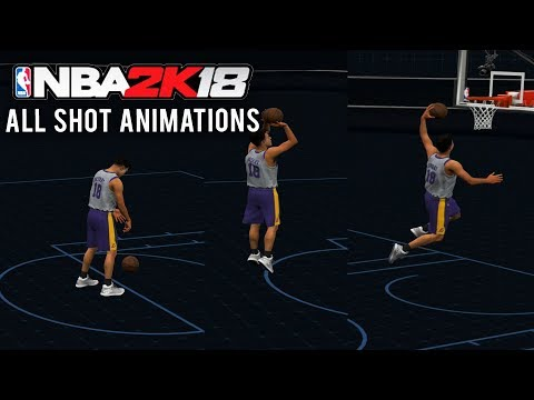 NBA 2K18 - All Dunk/Lay Up/Jump Shot/Free Throw Shot Animations (PREVIEW/SHOWCASE)