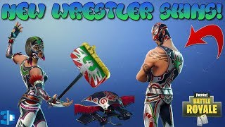 "*NEW* LEAKED SKINS WRESTLERS ""Masked Fury+Dynamo"" SHOWCASE WITH 3D PREVIEW 