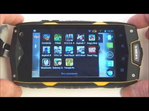 TeXet X-driver - демонстрация работы защищённого смартфона