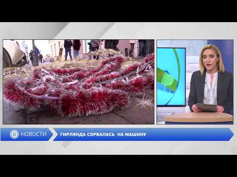 DumskayaTV: Гирлянда сорвалась  на машину