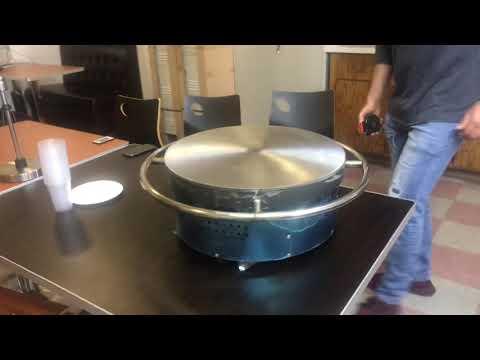 Comertial Grade Natural Gas Single Crepe Maker And Pancake Vintage Machine