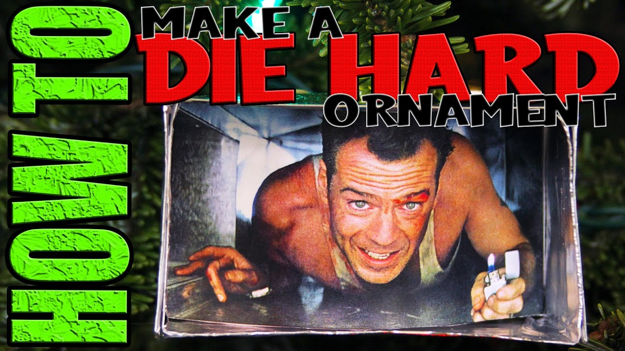 how to make a die hard christmas ornament daddy daughter diy drivel 8