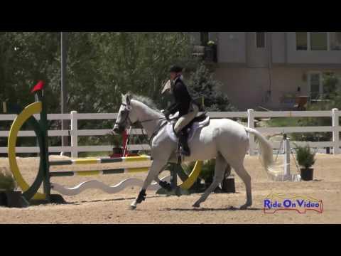 054S Lily Seymour on Pop 'em and Rock 'em Beg. Novice Show Jumping Colorado Horse Park June 2016