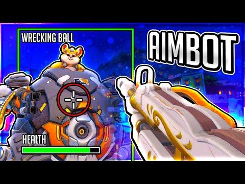 Hacking in Overwatch as WRECKING BALL... Overwatch Hacker Hunt