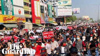 Protests sweep Myanmar to oppose coup and support Aung San Suu Kyi