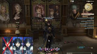 FFXIV cross hotbars demonstration and HUD set-up (PS4