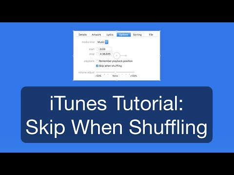 iTunes Tutorial: Skip When Shuffling