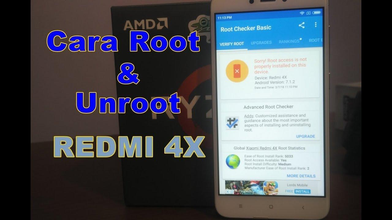 Cara Root & Unroot Xiaomi Redmi 4x Dengan Magisk