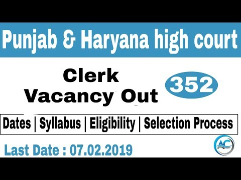 Punjab and Haryana high court clerk vacancies out 2019 | Eligibility | Syllabus | Apply here |