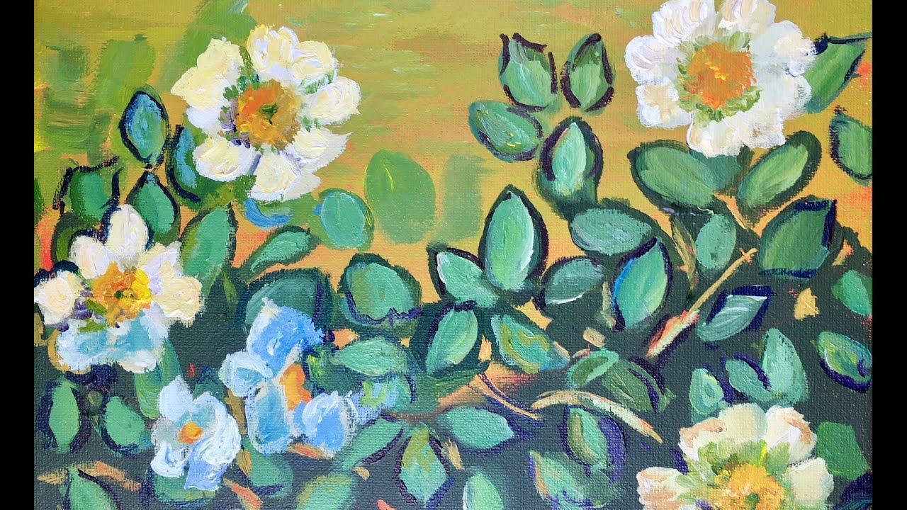 Boho Flower Painting Acrylic