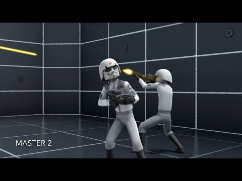 [Ezra's Blaster Training with the Cadet] Star Wars Rebels Season 1 Episode 6 [HD]