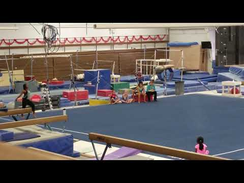 Cheyenne Burton special olympic gymnast's first non  special olympic floor routine