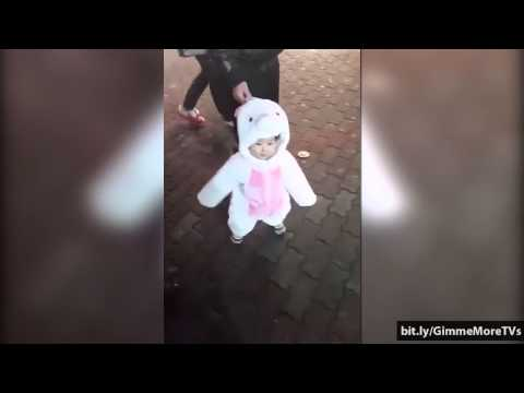 Funny Baby Moments - Adorable baby in bunny costume