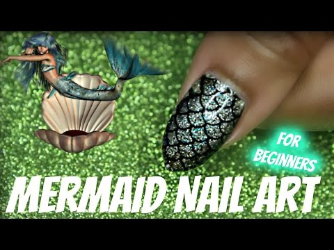 NAIL ART W/ MERMAID THEME | Dearnatural62