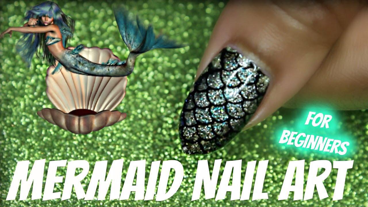 NAIL ART W/ MERMAID THEME | Dearnatural62
