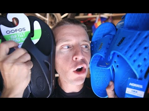Running Recovery Sandals | Oofos vs Hoka
