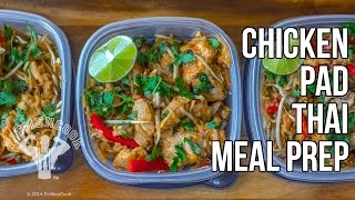 Healthy Chicken Pad Thai Meal Prep / Pad Thai con Pollo