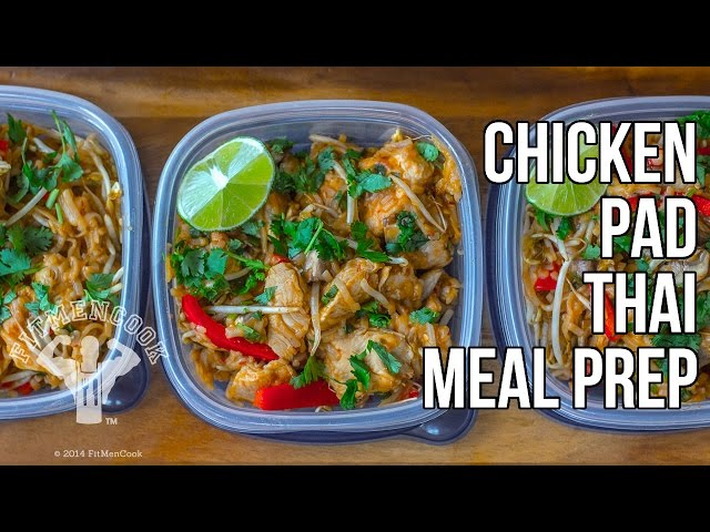 Easy healthy chicken pad thai recipe