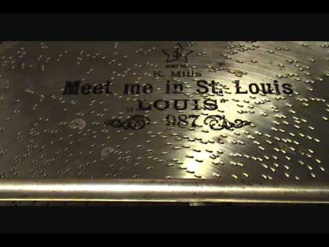 """""""MEET ME IN ST. LOUIS, LOUIS"""" 1904 Played On MIRA 18 1/2 inch Concert Grand Console Music Box"""