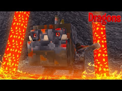 VOLCANIC DRAGONS TRY TO ERUPT THE VOLCANO ISLAND! - Minecraft Dragons w/TinyTurtle