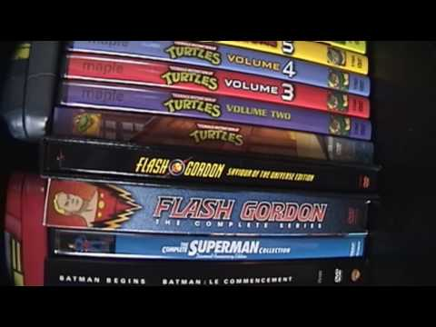 My DVD Collection - Comic Book Adaptations and Voltron (HD Version)