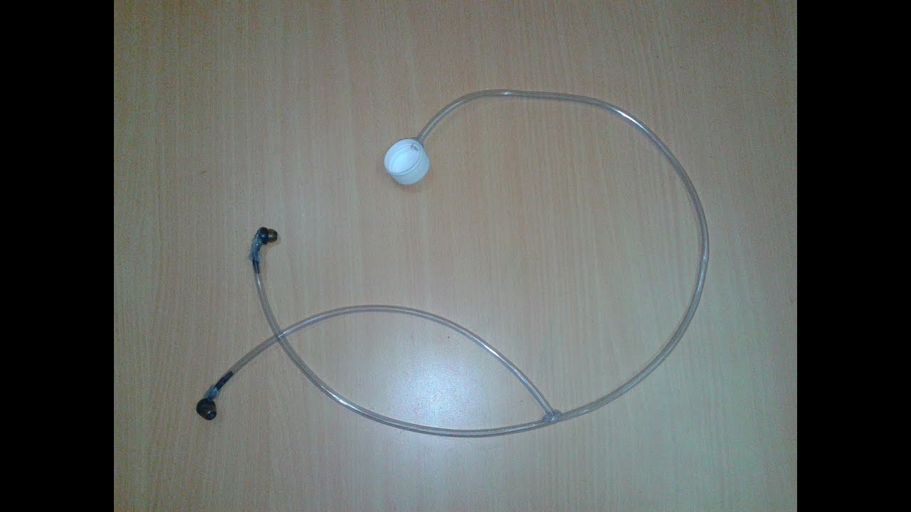 How to make a real stethoscope using waste headphone it 39 s for Making hut with waste material