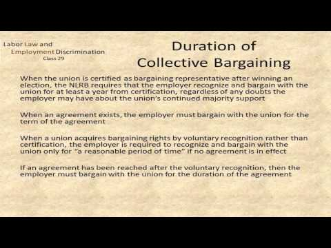 LAW 531/631: Class 29 - Collective Bargaining