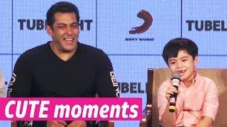 Salman Khan and Tubelight actor Matin Rey Tangu's CUTE moments