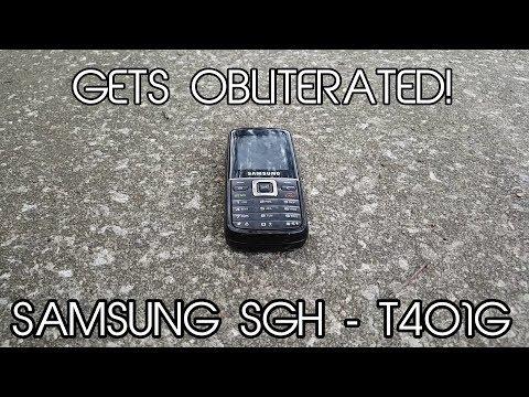 Samsung Slide-phone (SGH - T401) Scratch AND Drop Test FAIL