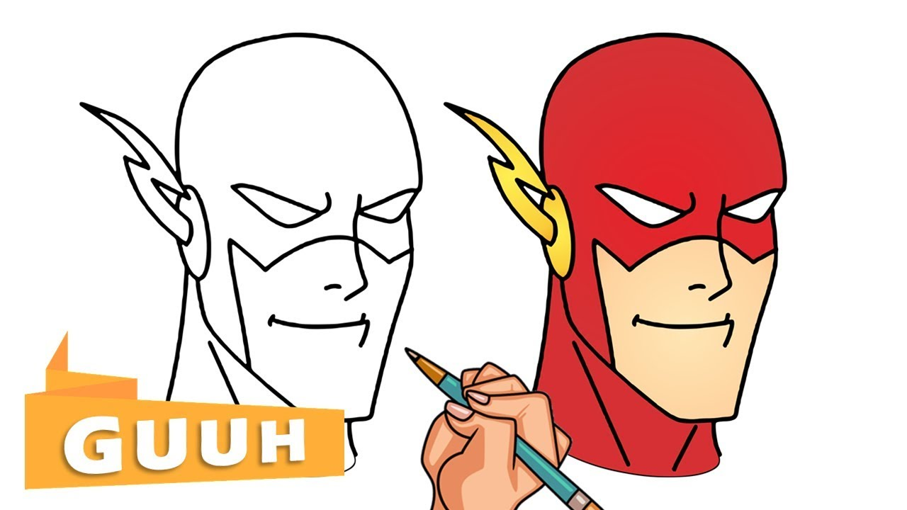 HOW TO DRAW THE FLASH FROM JUSTICE LEAGUE - YouTube