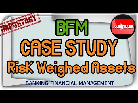 Banking Financial management case study on Risk Weighed Assets Part 2