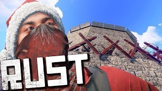 РАСТ РЕЙД ОГРОМНОГО КЛАНА - ПРОНИК БЕЗ ЗАТРАТ (rust raid loot изич)