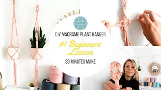 Macrame Plant Hanger Tutorial - How to: Macrame Plant Hanger DIY - Without a Ring
