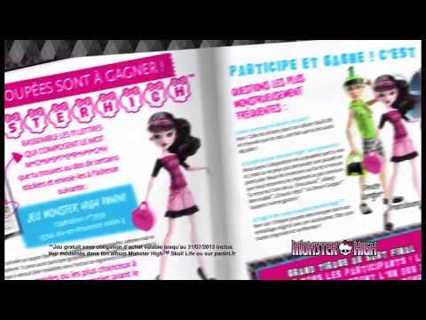 Vidéo PUB TV  Monster high  voix jeune promo