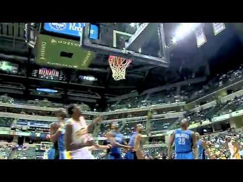 A J Price drives to basket to get the scoop lay up Indiana Pacers Preseason