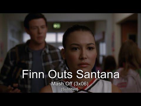 GLEE- Finn Outs Santana | Mash Off [Subtitled] HD