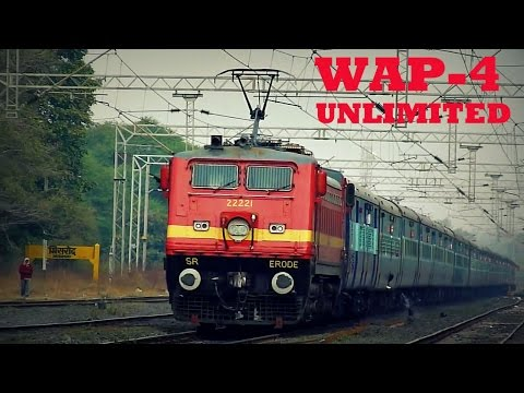 50 in 1 !! Back to Back WAP-4 Powered Trains