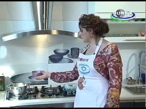 "DCM and Consul Hagit Mualem at the culinary show at Uzbek TV channel ""Dunya Boilab"", July 2015"