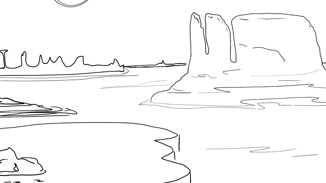 How To Draw Canyon
