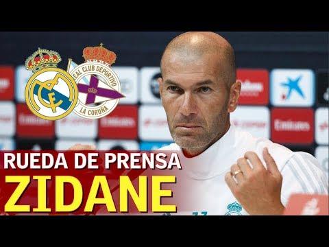 Deportivo - Real Madrid | Rueda de prensa previa de Zidane | Diario AS