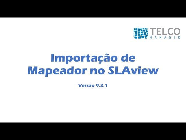 [TUTORIAL] Importação de Mapeador no SLAview