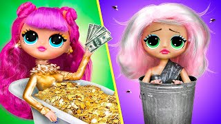 Rich Doll vs Broke Doll / 10 DIY Barbie Ideas