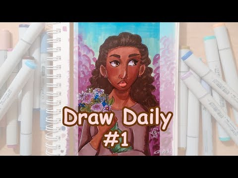 Draw Daily #1/ Artist's Loft Marker Review