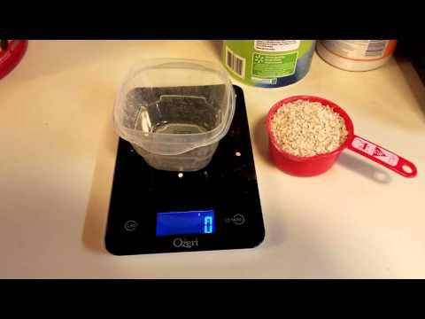 Measuring 1 cup oats vs actual weight