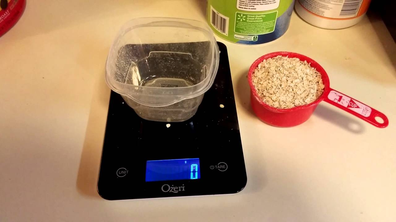 Measuring 1 Cup Oats Vs Actual Weight Youtube